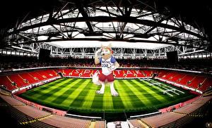 Картинка Футбол Стадион World Cup 2018 Mascotte