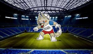 Обои Футбол Стадион World Cup 2018 Mascotte