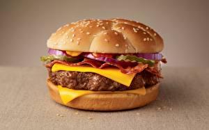 Картинки Гамбургер Вблизи Сыры Пища