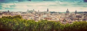 Фотографии Здания Рим Италия Купол Города