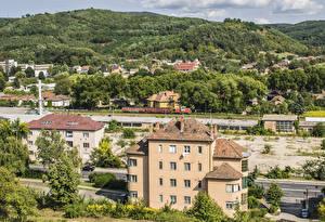 Фото Венгрия Здания Холмы Salgotarjan Города