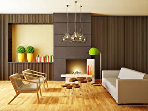 Фото Интерьер Дизайн Гостиная Диван Кресло Лампа 3D Графика