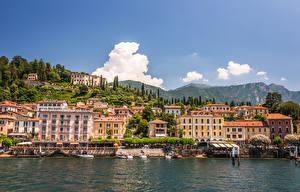 Обои Италия Дома Реки Пирсы Bellagio Города