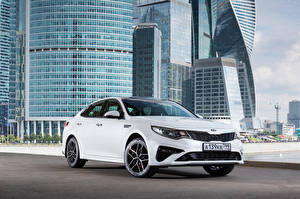 Обои Киа Белый 2018 Optima GT-Line Worldwide Авто