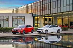 Обои для рабочего стола Киа Две 2019 Forte автомобиль