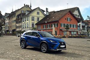 Обои для рабочего стола Лексус Синяя Металлик 2017-18 NX 300 F SPORT Worldwide Автомобили