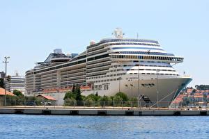 Фото Пристань Корабли Круизный лайнер
