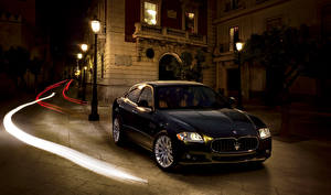 Фотография Maserati Pininfarina Черный 2008-12 Quattroporte Worldwide машина