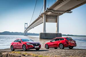 Фото Mazda Двое Красный Металлик 2012-18 Mazda 6 Машины