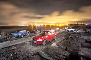 Картинки Мазда Трое 3 Металлик 2017 CX-5 Машины