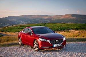 Фото Mazda Красный 2018 Mazda 6 Автомобили