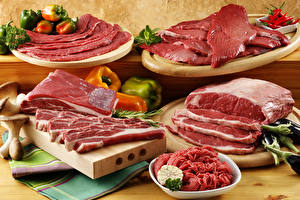 Фотографии Мясные продукты Овощи Разделочная доска