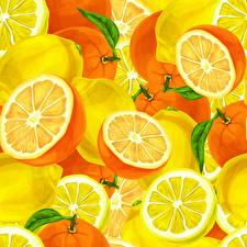 Картинка Апельсин Текстура Продукты питания
