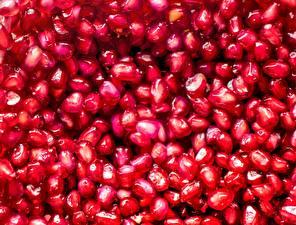 Картинки Гранат Текстура Крупным планом Зерно Пища