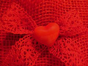 Фотография Красный Бантик Сердце