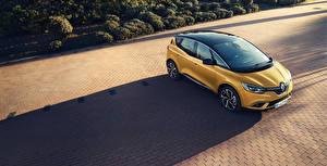 Картинки Renault Желтый 2016-18 Scenic Автомобили