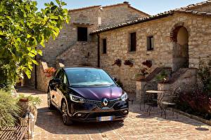 Фотографии Renault Фиолетовый Металлик Спереди 2017-18 Scenic Initiale Paris Worldwide Автомобили