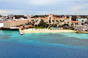 Картинки Курорты Дома Берег Пирсы Bahamas