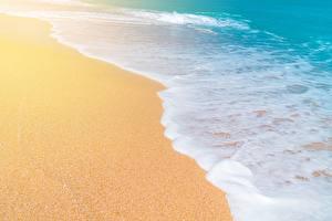Фото Море Волны Песок Пена Природа