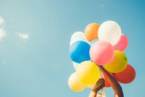 Фотографии Небо Воздушный шарик