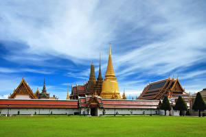 Фотографии Таиланд Храмы Газон Города