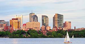 Фото США Дома Реки Boston Города