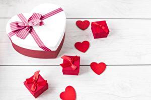 Фотографии День святого Валентина Сердце Бантик Подарки
