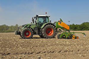 Картинка Сельскохозяйственная техника Поля Трактор 2011-17 Fendt 724 Vario Worldwide