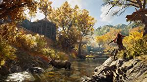 Обои Assassin's Creed Лоси Лучники Assassin's Creed Odyssey Охота компьютерная игра 3D_Графика Природа