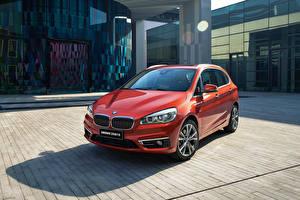 Картинки BMW Красный Металлик 2016 220i Active Tourer Luxury Line Авто