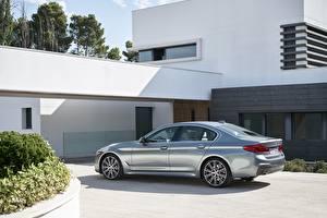 Обои BMW Серебристый 540i M Sport 2017 5-series G30 Автомобили картинки