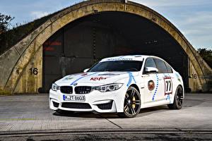 Фото BMW Тюнинг Белый 2015 M3 Münchner Wirte Автомобили