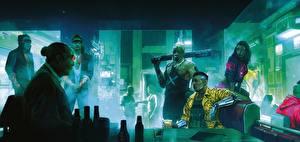 Обои Cyberpunk 2077 Азиаты Киборг