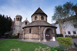 Обои Англия Храмы Церковь Cambridge Holy Sepulchre church