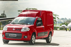 Обои Фиат Красный Металлик 2013-18 Fiorino Furgão Latam Автомобили