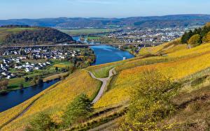 Обои Германия Здания Речка Мосты Осенние Города