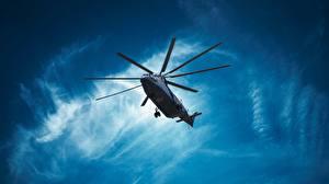 Фотография Вертолеты Русские Вид снизу Mi-26 Авиация