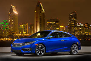 Фото Хонда Синий 2016-18 Civic Coupe Авто