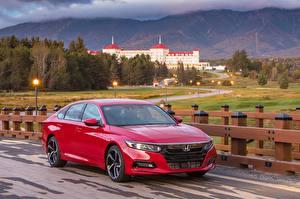 Фото Honda Красный Металлик 2018 Accord Sport Машины