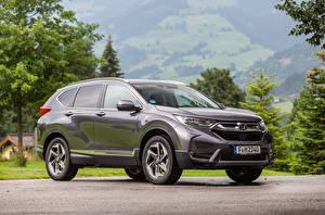 Обои Хонда CUV Серый Металлик 2018 CR-V Авто