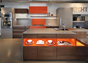 Фотография Интерьер Дизайн Кухня Стол 3D Графика