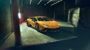 Обои Lamborghini Желтый Автомобили