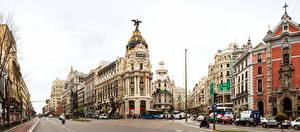 Обои Мадрид Испания Дома Улиц Города