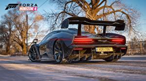 Обои Макларен Сзади Senna E3 2018  Forza Horizon 4 Игры 3D_Графика Автомобили