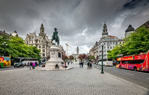 Картинка Памятники Португалия Порту Улица город