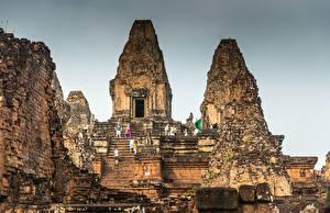 Фотография Руины Лестница Cambodia, Angkor город