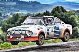 Фотография Skoda Старинные Тюнинг Белый 1975-81 130 RS Rally Car Авто