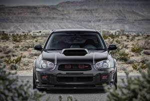 Фотография Subaru Спереди Черный Impreza, WRX, STI Авто