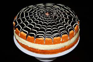 Обои Сладости Торты Шоколад На черном фоне Еда