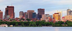 Картинка США Бостон Здания Города